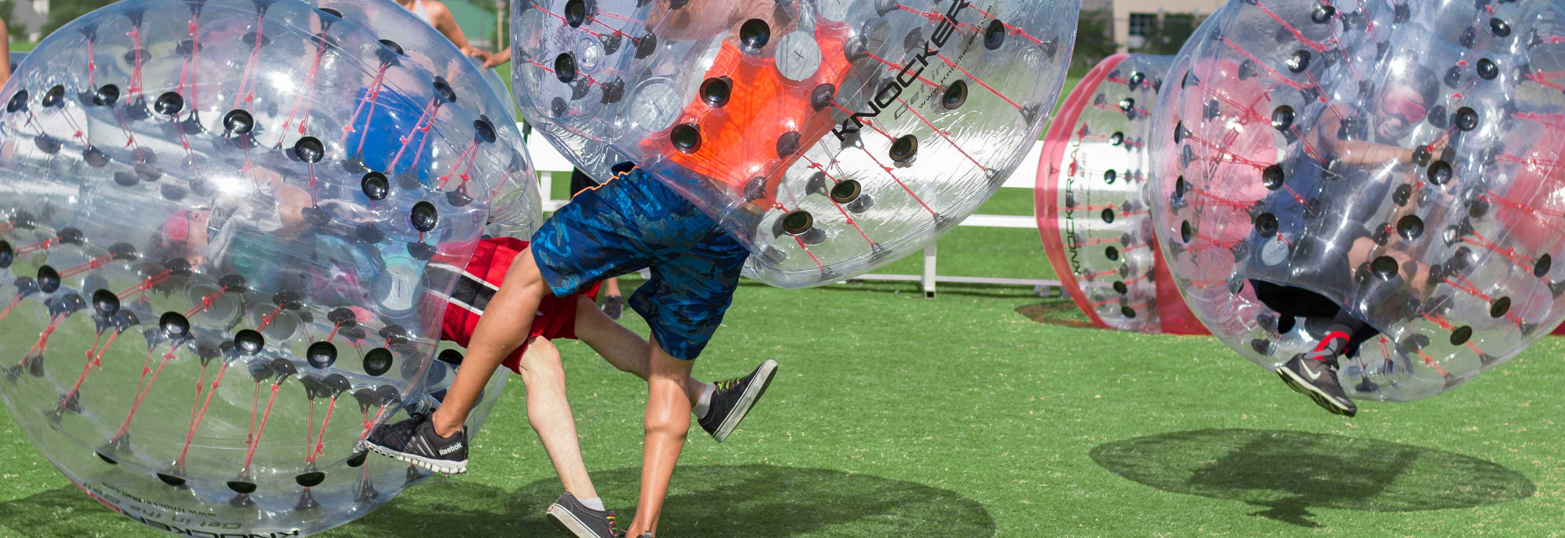Play Knockerball Bubble Soccer RI